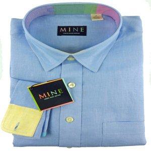 Mine Pure Solid Linen Shirt w/Contrast Trim