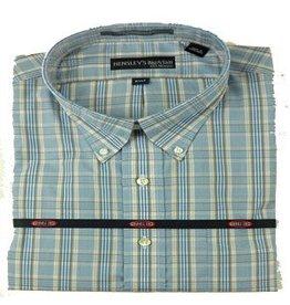 Hensley Hensley's Wrinkle Free Khaki & Blue Plaid Shirt