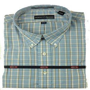Hensley's Wrinkle Free Khaki & Blue Plaid Shirt