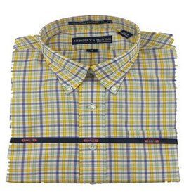 Hensley Hensley's Wrinkle Free Khaki Micro Check