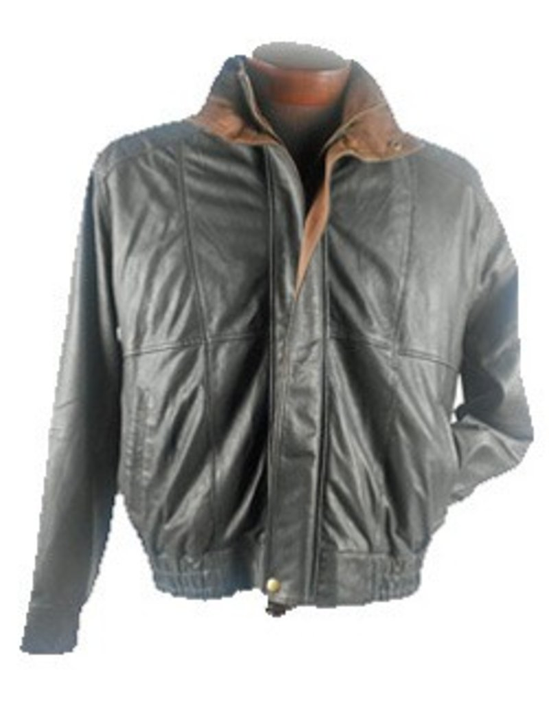 Scully Double Collar Featherlite Leather Jacket