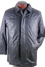 Scully Black Lamb Leather Car Coat