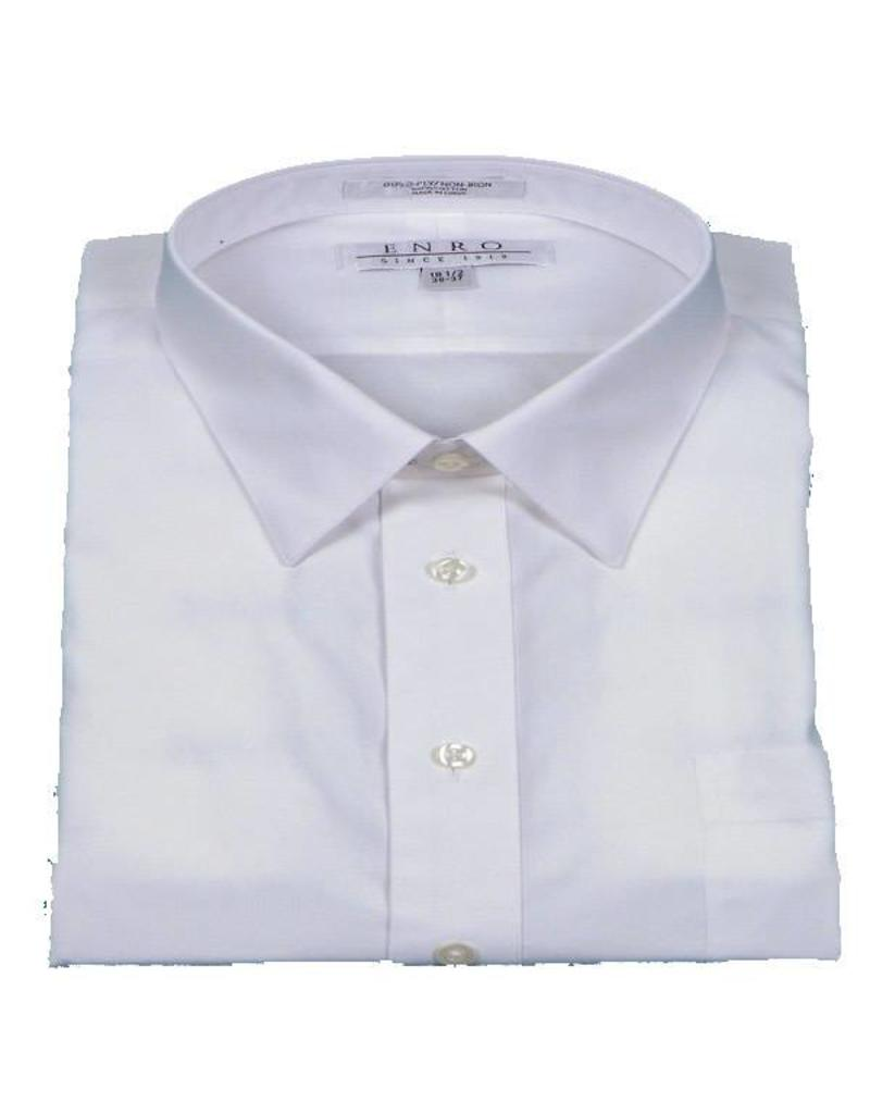 Enro non iron white point collar dress shirt hensley 39 s for White non iron dress shirts