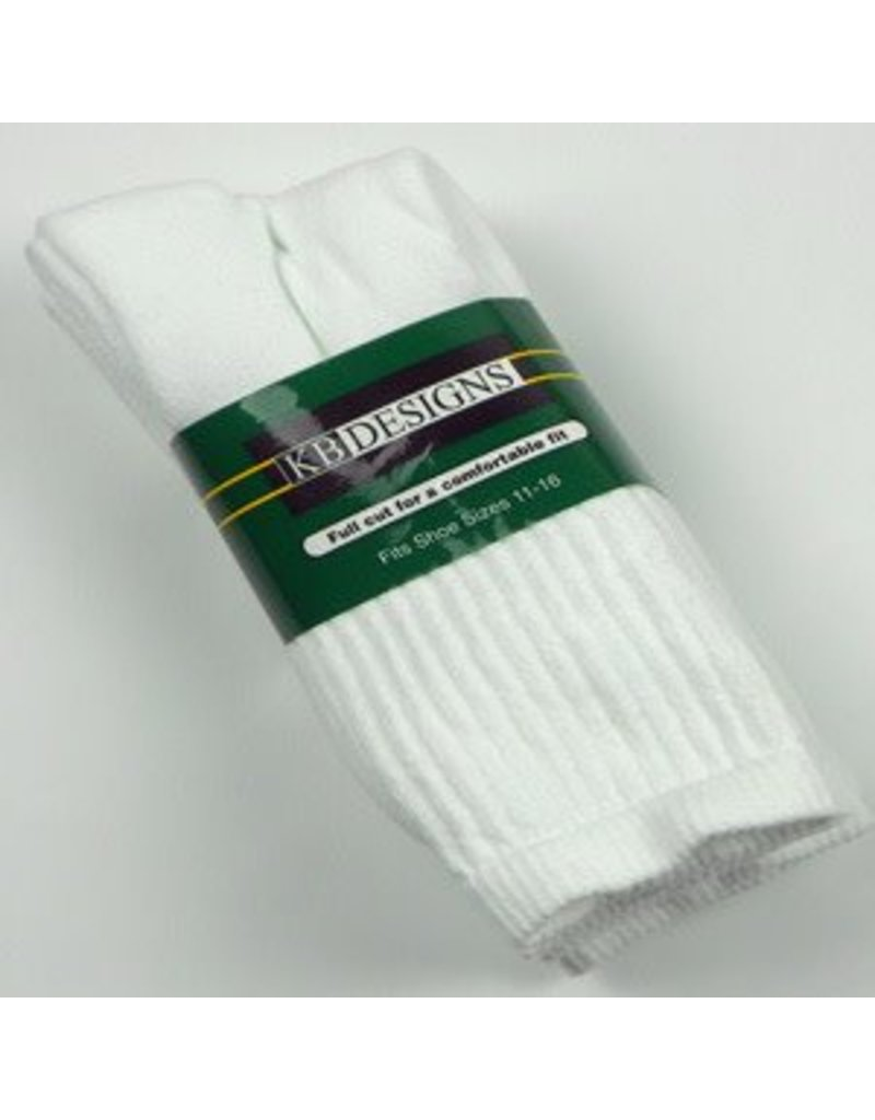 Extra Wide Athletic Crew Socks-3-Pack Size 11-16