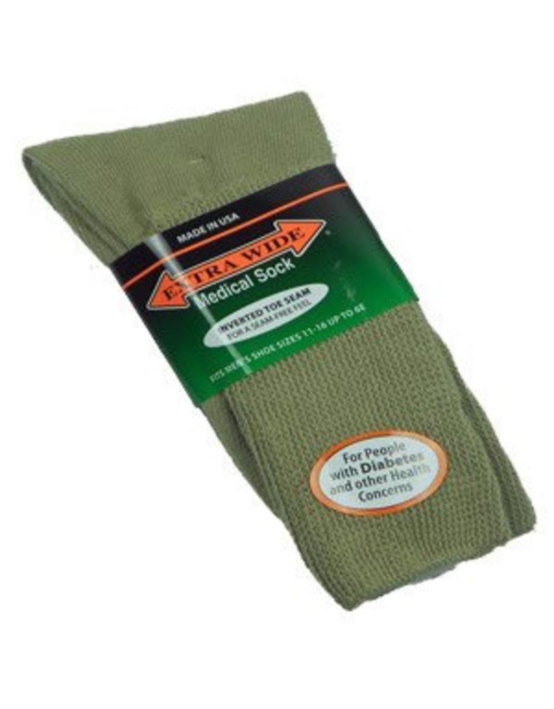 Extra Wide Crew Length Medical Socks