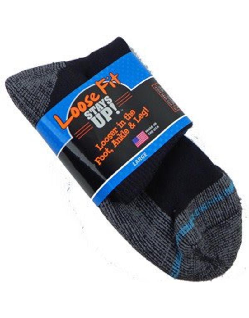 Extra Wide Anklet Loose Fit/Stays Up Large Socks