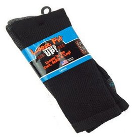 Extra Wide Crew Loose Fit/Stays Up Large Sock