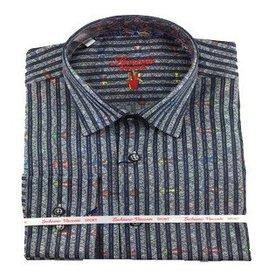 Luchiano Visconti Luchiano Visconti LS Charcoal Stripe Shirt