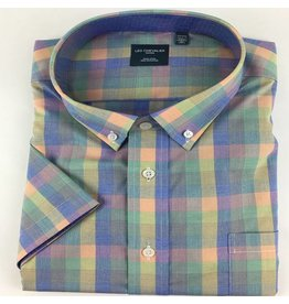 Leo Chevalier SS Non-Iron Multi Plaid Shirt