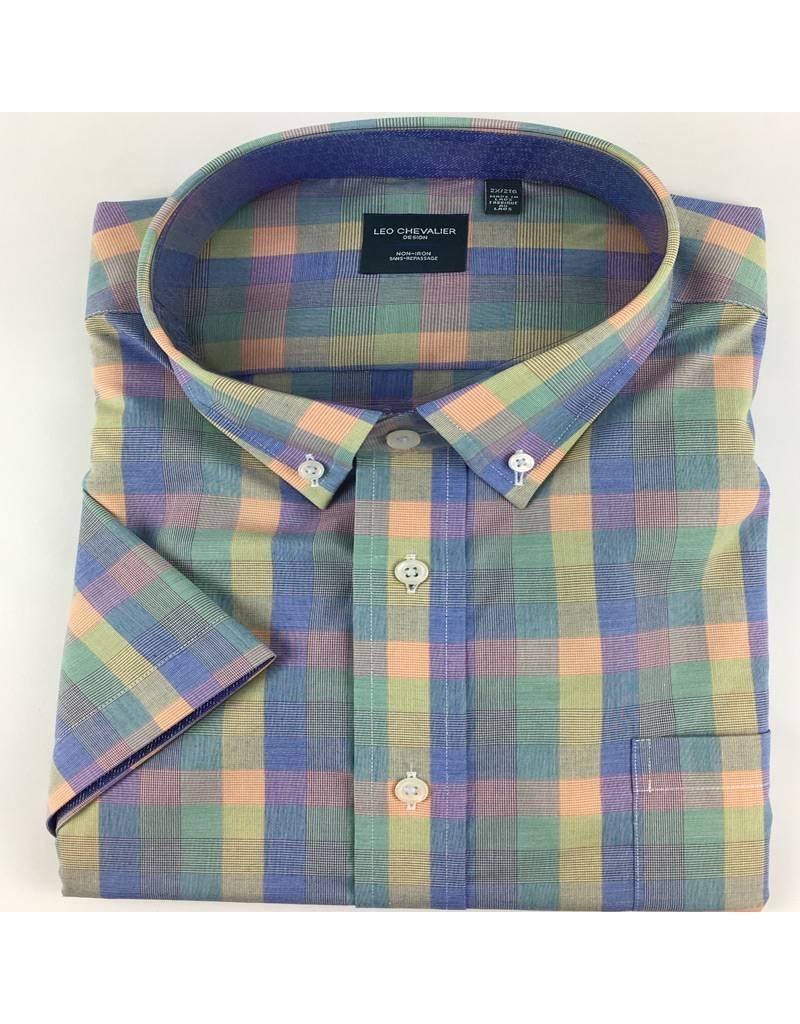 Leo Chevalier SS Non-Iron Multi Plaid Shirt