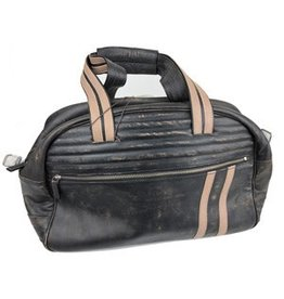 Scully Scully Black Leather Duffle Bag