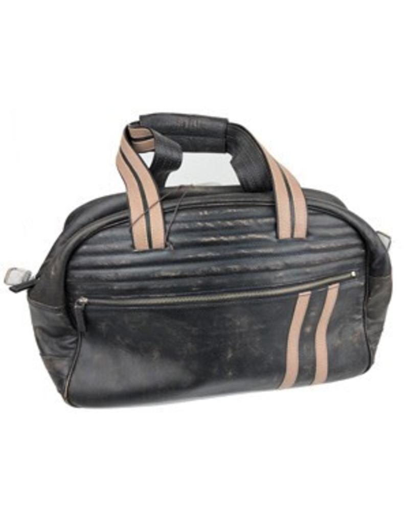 Scully Black Leather Duffle Bag