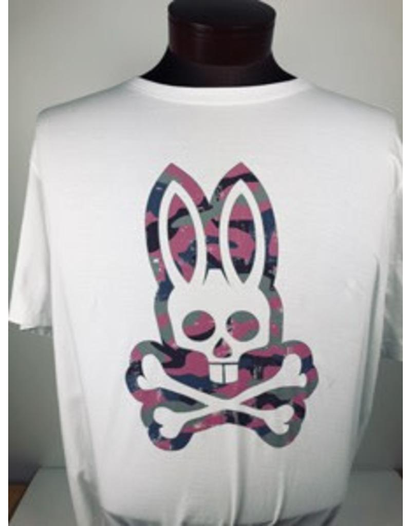 Psycho Bunny Psycho Bunny White Graphic Crew Neck Tee