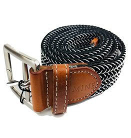 Mine Black/White Stretch Web Belts