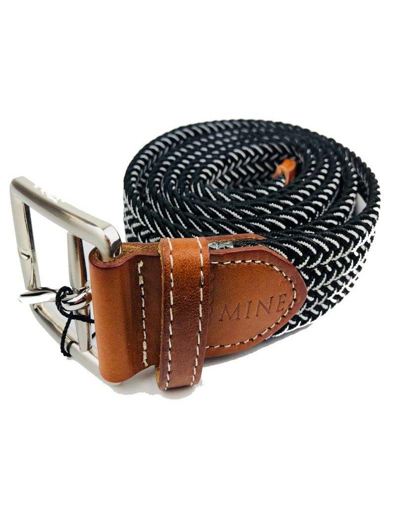 Mine Black/White Stretch Web Belts