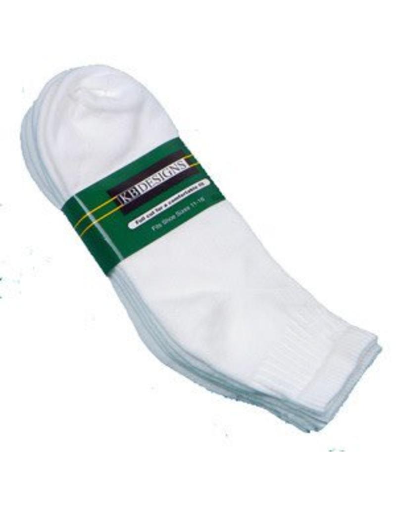 Extra Wide Athletic Quarter Socks-3-Pack 11-16