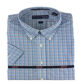 Hensley Hensley's SS Wrinkle Free Khaki Check Shirt