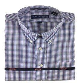 Hensley Hensley's LS Wrinkle Free Purple Check Shirt