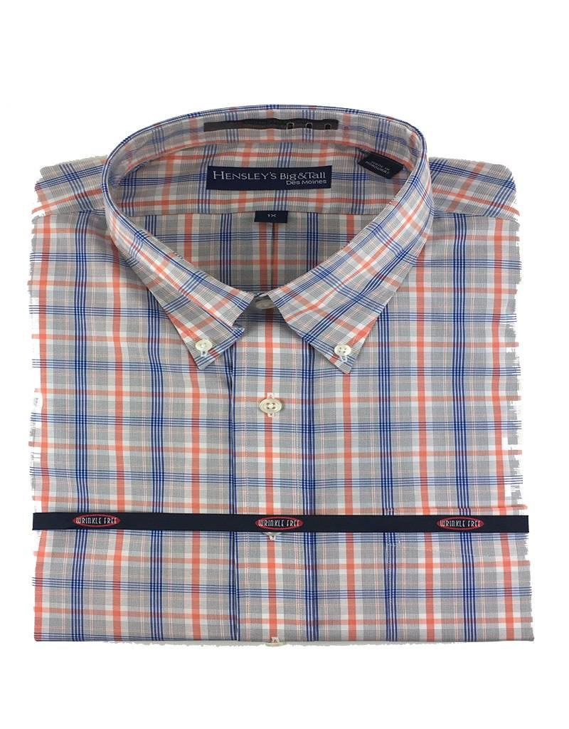 Hensley Hensley's LS Cool Max Perfom Melon Plaid