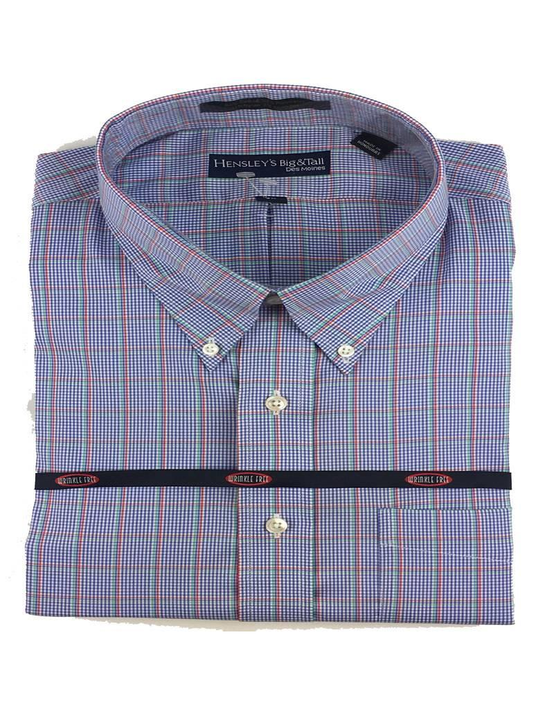 Hensley Hensley's LS Cool Max Perfom Blue Plaid