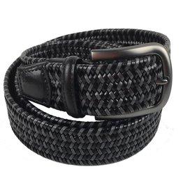 Torino Leather Mini Strand Braid Belt-B/G