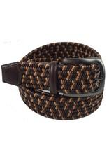 Torino Leather Mini Strand Braid Belt-B/T