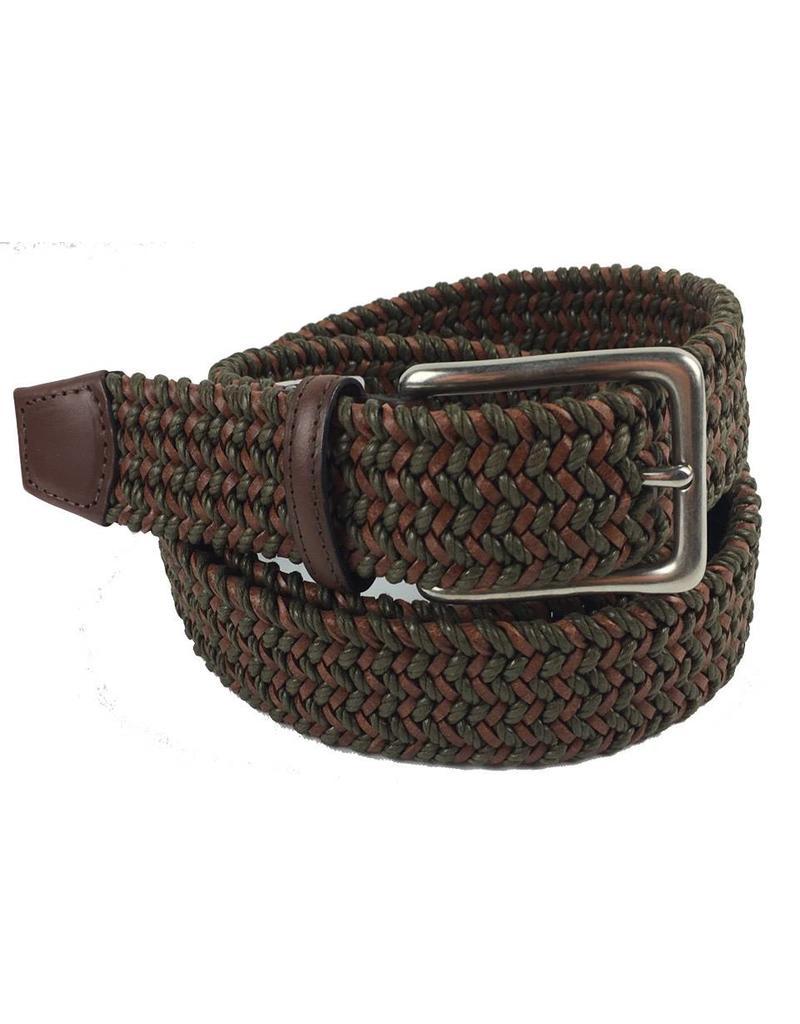 Torino Leather Mini Strand Braid Belt-O/C
