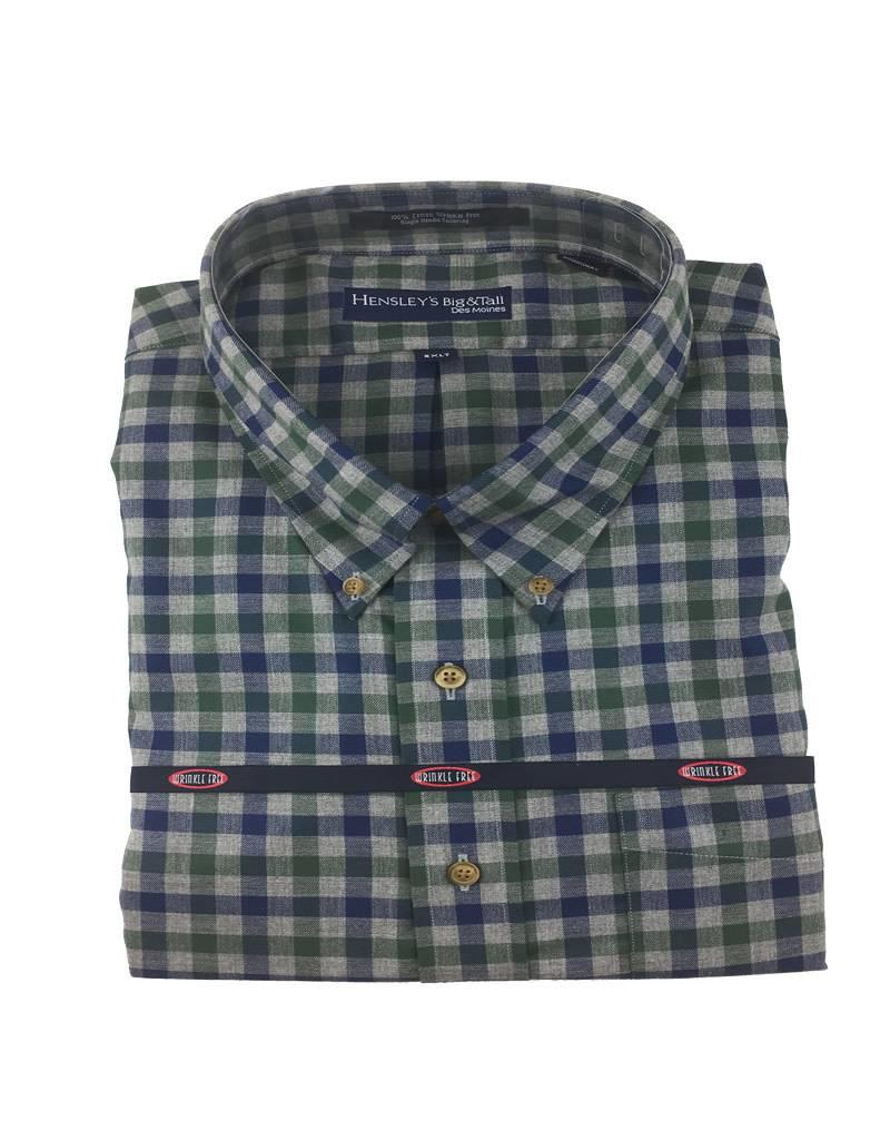 Hensley Hensley's LS Brushed Cotton Hunter Check