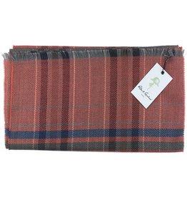 Robert Graham Lewis Orange Wool Scarf