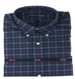 Hensley Hensley's LS Brushed Cotton Navy Plaid