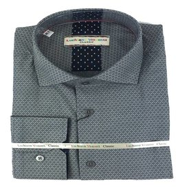 Luchiano Visconti Luchiano Visconti LS Grey Solid Tonal Shirt