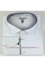 Luchiano Visconti Luchiano Visconti LS White Solid Tonal Shirt