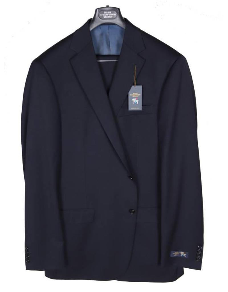 Hart Schaffner and Marx Solid Navy Suit