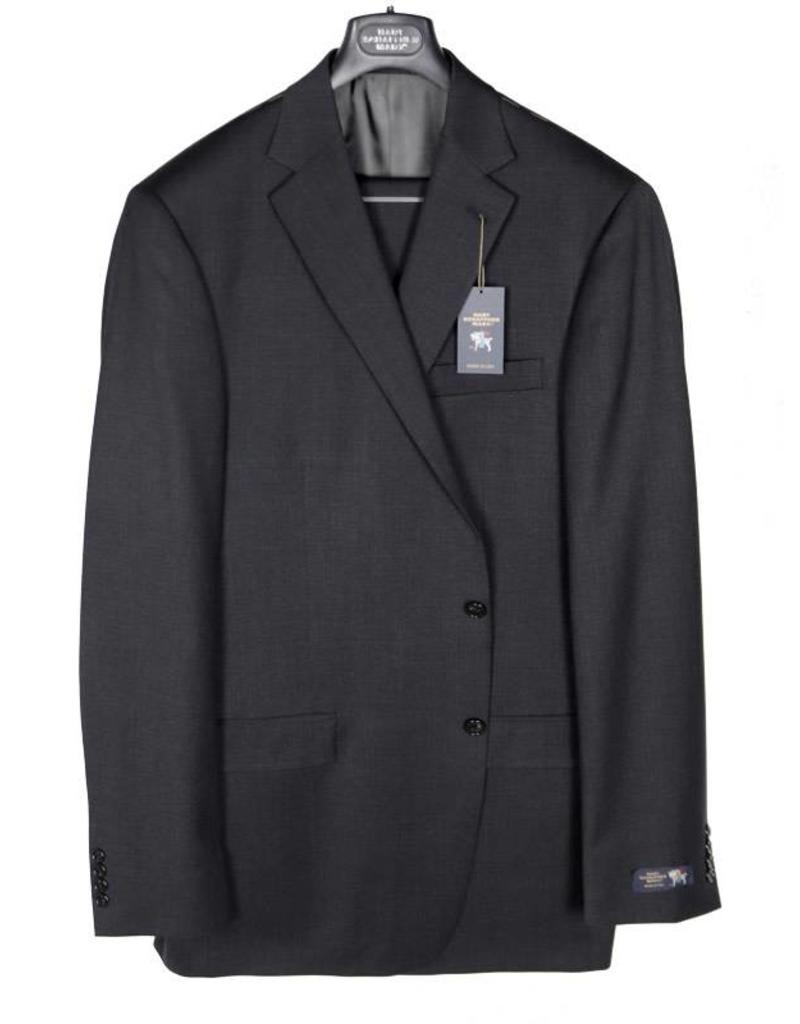 Hart Schaffner and Marx Solid Charcoal Suit