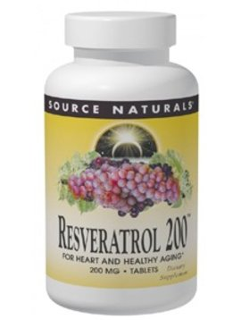 Source Naturals Resveratrol 200mg - 120 tabs