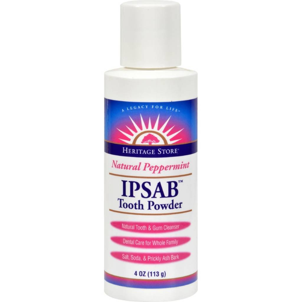 Ipsab Tooth Powder, mint - 4 oz