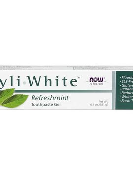Now Foods Xlear peppermint toothpaste gel 4 oz