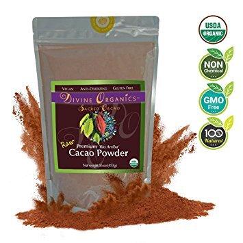 Divine Organics - Cacao Powder 16 oz