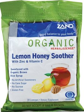 Zand Lemon Honey Zinc lozenges -- 18 lozenges