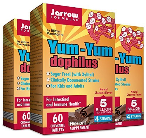 Jarrow Yum Yum Dophilous Chocolate - 5 bil - 60 chews