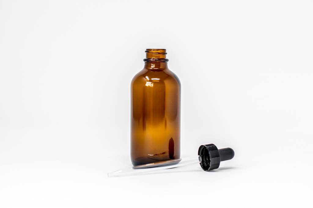 4 oz Amber Glass Bottles W/Dropper