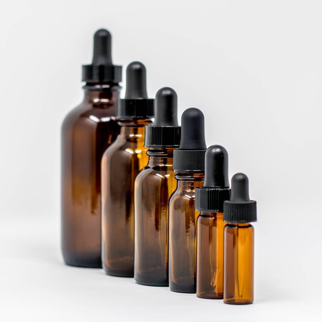 1/2 oz Amber Glass Bottles W/ Dropper