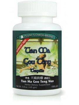 Plum Flower Brand Tian Ma Gou Teng 1000 Teapills