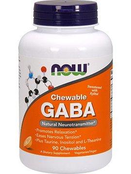 GABA NOW Foods - 90 chewables - 250 mg
