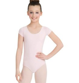 Capezio Girls Short Sleeve Cotton  Leotard