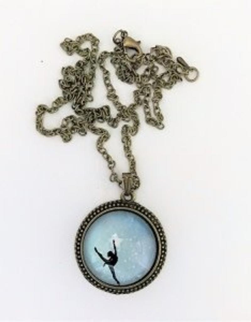 Ballerina pendant necklace encore dancewear ballerina pendant necklace mozeypictures Image collections
