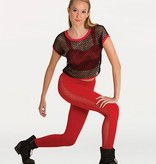 Body Wrappers Glitter Mesh Legging Adult K252