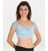 Body Wrappers Adult Power Mesh Crop Top  BWP9008