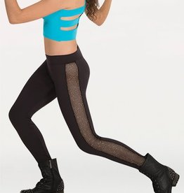 Body Wrappers Girls Glitter Mesh Legging K152