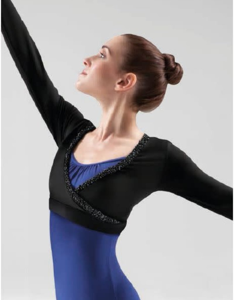 Bloch Beaded Wrap Top M7020L